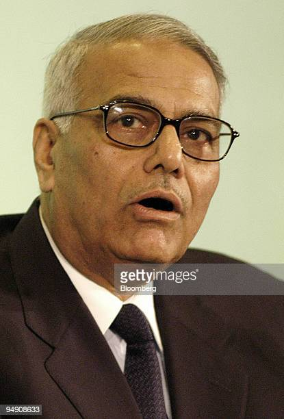Yashwant Sinha former Indian minister of economy speaks at the 'Circulo de Economia' congress in Sitges Spain Friday June 18 2004 June 18th 2004