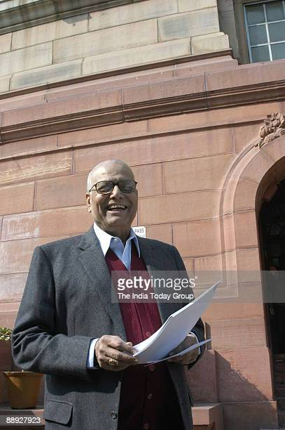 Yashwant Sinha former Union Cabinet Minister of finance at Parliament House in New Delhi India