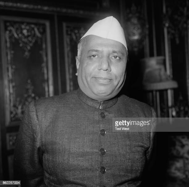 Yashwantrao Chavan the Indian Minister of Defence arrives at the Indian High Commissioner's residence in Kensington London 11th November 1964 His...