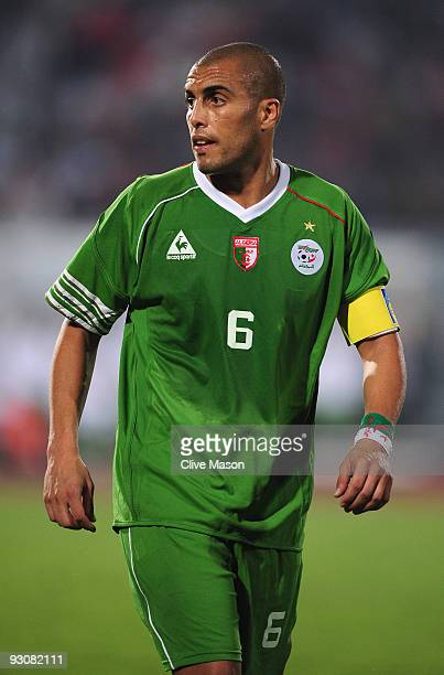 Yasid Mansouri of Algeria during the FIFA2010 World Cup qualifying match between Egypt and Algeria at the Cairo International Stadium on November 14...