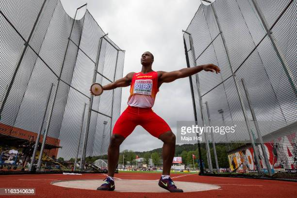 Yasiel Brayan Sotero of Spain competes during Discus Throw Men Final on July 21, 2019 in Boras, Sweden.