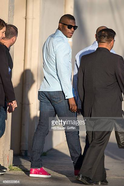Yasiel Puig is seen at 'Jimmy Kimmel Live' on October 01 2014 in Los Angeles California