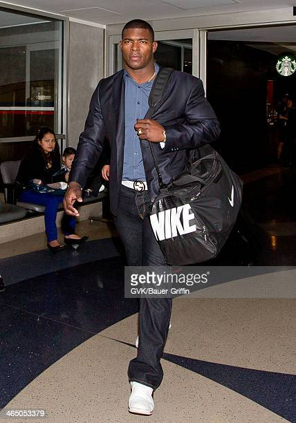 Yasiel Puig is seen at LAX airport on January 25 2014 in Los Angeles California