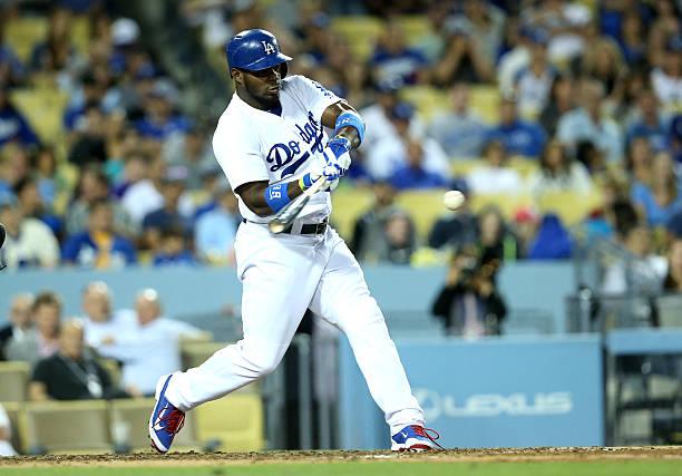 Yasiel Puig of the Los Angeles Dodgers