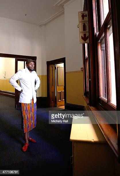 Yasiin Bey aka Mos Def poses during a portrait session at the Music Exchange 2014 held at the Cape Town City Hall on March 7 2014 in Cape Town South...