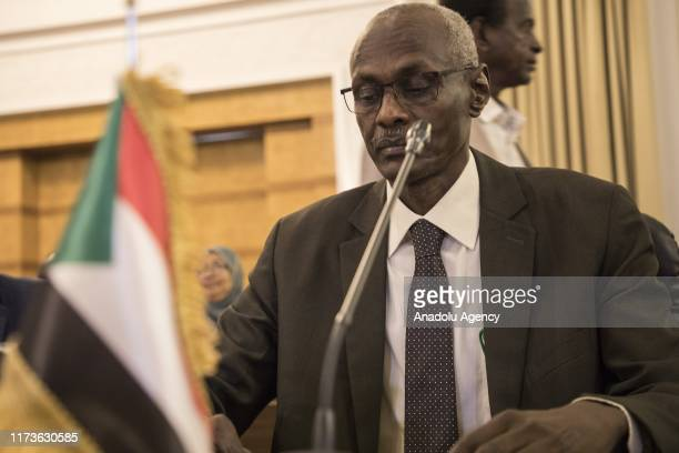 Yasir Abbas, Minister for Water Resources, Irrigation and Electricity of Sudan attends the talks on Hidase Dam, built on the Blue Nile River in...
