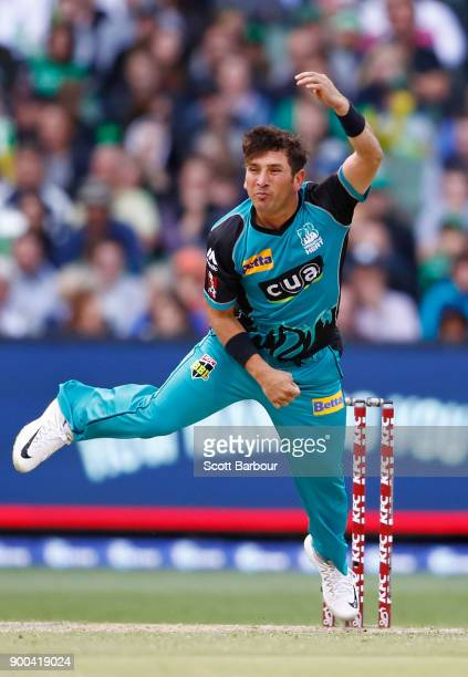 Yasir Shah of the Heat bowls during the Big Bash League match between the Melbourne Stars and the Brisbane Heat at Melbourne Cricket Ground on...