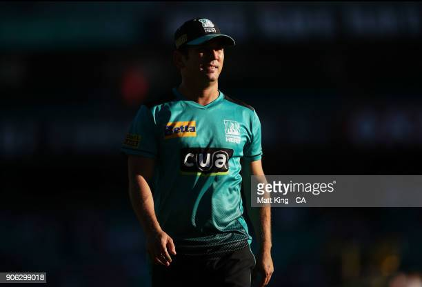 Yasir Shah of the Heat looks on during the Big Bash League match between the Sydney Sixers and the Brisbane Heat at Sydney Cricket Ground on January...