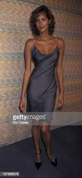 Yasmeen Ghauri attends First Annual Ovarian Cancer Research Fund Benefit on December 4 1997 at Pier 59 in New York City