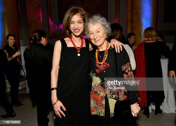Yasmeen Hassan and Margaret Atwood attend the annual Make Equality Reality Gala hosted by Equality Now on November 19 2019 in New York City