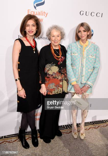 Yasmeen Hassan Margaret Atwood and Scarlette Curtis attend the annual Make Equality Reality Gala hosted by Equality Now on November 19 2019 in New...