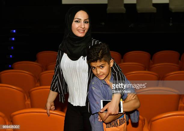 Yasmen Aboalshaer and Ahmad Alrifai attend 'This is Home A Refugee Story' New York Premier Screening at Crosby Street Hotel on May 16 2018 in New...