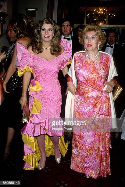 Yasmin Aga Khan with Estee Lauder circa 1988 in New York City