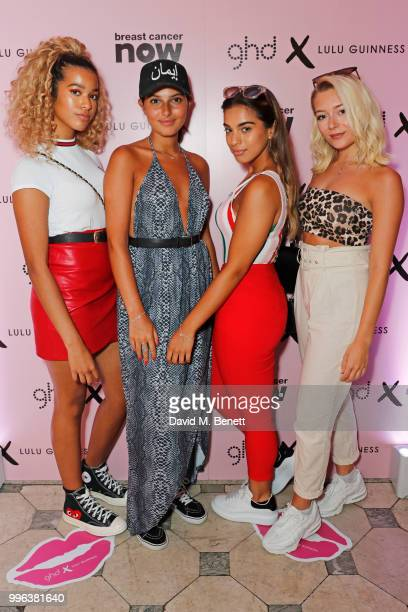 Yasmin Broom Sophia Saffarian Caroline Alvarez and Lauren Rammell of Four Of Diamonds attend the launch of the new ghd x Lulu Guinness collection...