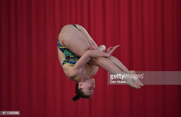 Yasmin Harper of City of Sheffield Diving Club competes in the Womens 3m Springboard Preliminary round on day three of the British Diving...