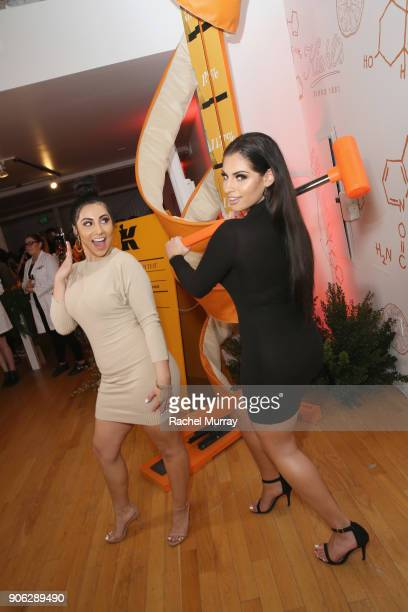 Yasmin Kavari and Nazanin Kavari at Kiehl's Turns Up the PotentC with the NEW PowerfulStrength LineReducing Concentrate on January 17 2018 in West...