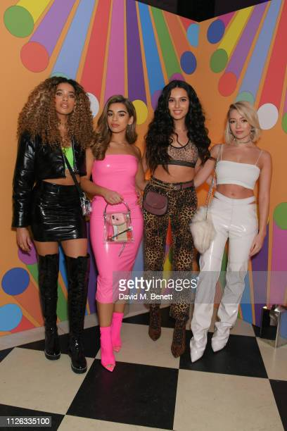 Yasmin Lauryn Caroline Alvares Sophia Saffarian and Lauren Rammell of Four Of Diamonds attend the Universal Music BRIT Awards After Party 2019 hosted...