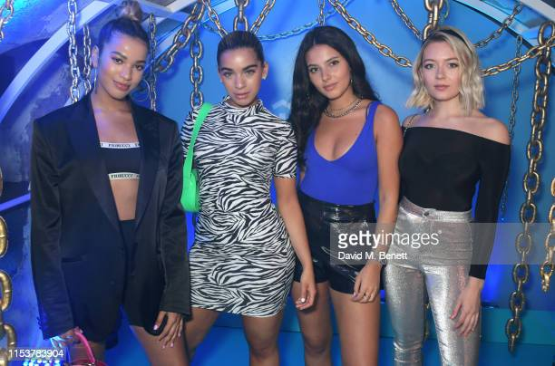 Yasmin Lauryn Caroline Alvares Sophia Saffarian and Lauren Rammell of Four Of Diamonds attend as Moschino celebrate Pride In London with the hottest...