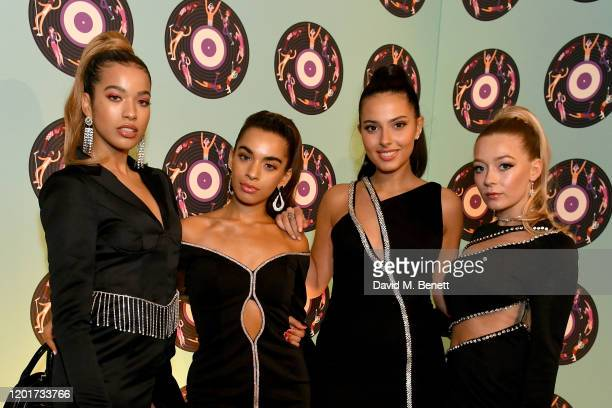 Yasmin Lauryn Caroline Alvares Sophia Saffarian and Lauren Rammell of Four Of Diamonds attend the Universal Music BRIT Awards afterparty 2020 hosted...