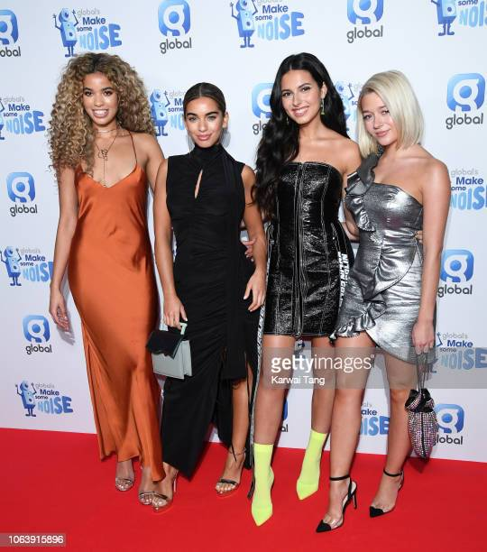 Yasmin Lauryn Caroline Alvares Sophia Saffariana and Lauren Rammell of Four of Diamonds attend Global Radio's Make Some Noise Night at Finsbury...