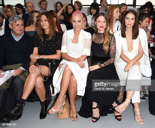 Yasmin Le Bon Amber Le Bon Alicia Rowntree and Heida Reed attend the Antonio Berardi show during London Fashion Week Spring/Summer collections 2017...