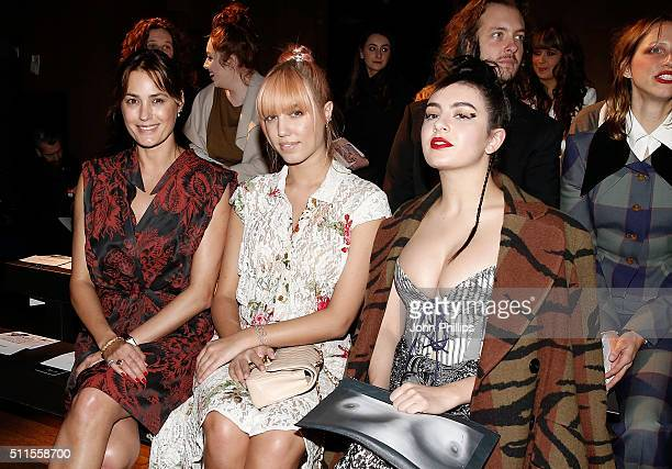 Yasmin Le Bon Amber Le Bon and Charli XCX attend the Vivienne Westwood show during London Fashion Week Autumn/Winter 2016/17 on February 21 2016 in...