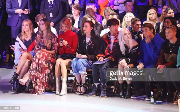 Yasmin Le Bon Amber Le Bon Arizona Muse Erin O'Connor Park Chanyeol guests Rafferty Law attends the Tommy Hilfiger TOMMYNOW Fall 2017 Show during...