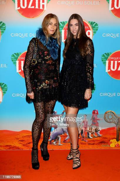 Yasmin Le Bon and Amber Le Bon attend Cirque du Soleil's LUZIA at Royal Albert Hall on January 15 2020 in London England