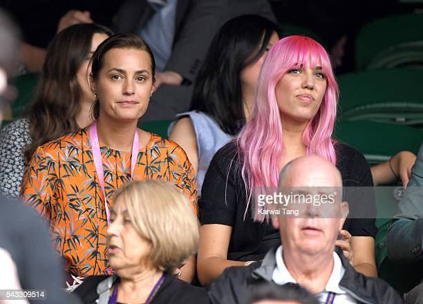 Yasmin Le Bon and Amber Le Bon attend day one of the Wimbledon Tennis Championships at Wimbledon on June 27 2016 in London England