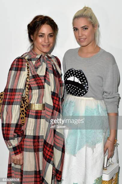 Yasmin Le Bon and Amber Le Bon attend the Antonio Berardi show during the London Fashion Week February 2017 collections on February 20 2017 in London...
