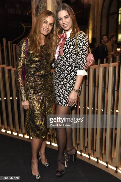 Yasmin Le Bon and Amber Le Bon attend the E by Equinox launch event at St James's Palace on February 1 2018 in London England