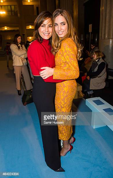 Yasmin Le Bon and Amber Le Bon attend the Emilia Wickstead show during London Fashion Week Fall/Winter 2015/16 on February 21 2015 in London United...