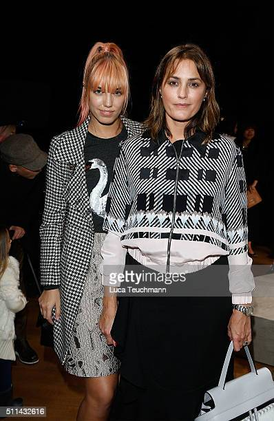 Yasmin Le Bon and Amber Le Bon attend the Markus Lupfer show during London Fashion Week Autumn/Winter 2016/17 at on February 20 2016 in London England