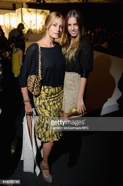 Yasmin Le Bon and Amber Le Bon attend the Preen by Thornton Bregazzi show during London Fashion Week September 2017 on September 17 2017 in London...