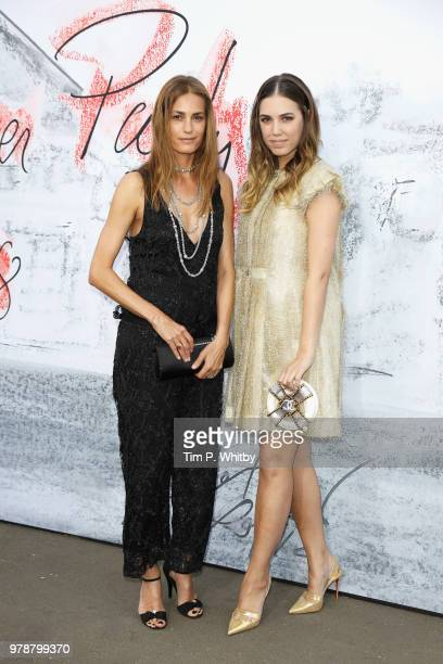 Yasmin Le Bon and Amber Le Bon attend the Serpentine Summer Party 2018 at The Serpentine Gallery on June 19 2018 in London England