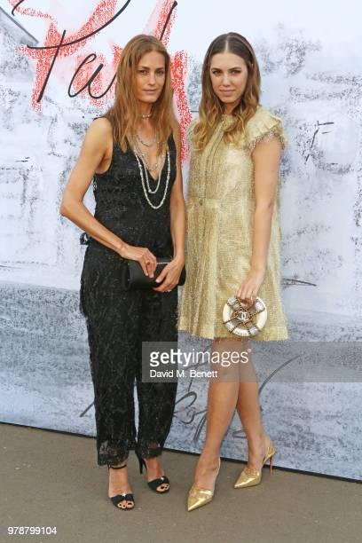 Yasmin Le Bon and Amber Le Bon attend the Serpentine Summper Party 2018 at The Serpentine Gallery on June 19 2018 in London England