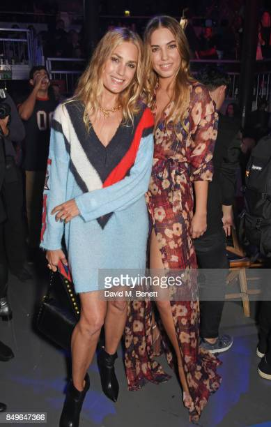 Yasmin Le Bon and Amber Le Bon attend the Tommy Hilfiger TOMMYNOW Fall 2017 Show during London Fashion Week September 2017 at The Roundhouse on...