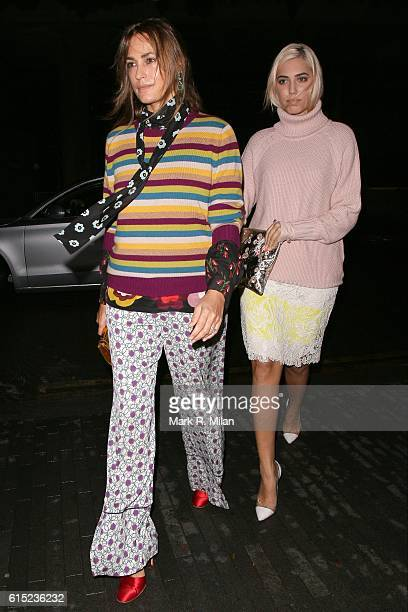 Yasmin Le Bon and Amber Le Bon attending the Red Women Of The Year Awards 2016 on October 17 2016 in London England