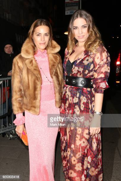 Yasmin Le Bon and Amber Le Bon seen at the Vogue and Tiffany Co party at Annabel's club after attending the EE British Academy Film Awards at the...