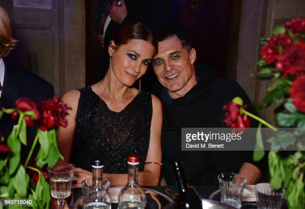 Yasmin Le Bon and Andre Balazs attend a party to celebrate Nefer Suvio's birthday hosted by The Count and Countess Francesco Chiara Dona Dalle Rose...