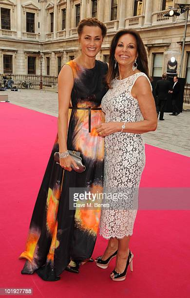 Yasmin Le Bon and AnneMarie Graff attend the private view of the Royal Academy Summer Exhibition 2010 at the Royal Academy Of Arts on June 9 2010 in...