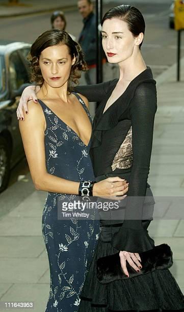 Yasmin Le Bon and Erin O'Connor during Salvatore Ferragamo Dinner Fashion Show Arrivals at Italian Embassy in London Great Britain