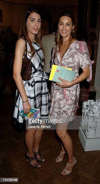 Yasmin Le Bon and her daughter attend the party for the Royal Academy Summer Exhibition, at the Royal Academy of Arts on June 6, 2007 in London,...