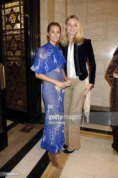 Yasmin Le Bon and Jodie kidd during 2005 Lancome Colour Design Awards Inside at Freemason's Hall in London Great Britain