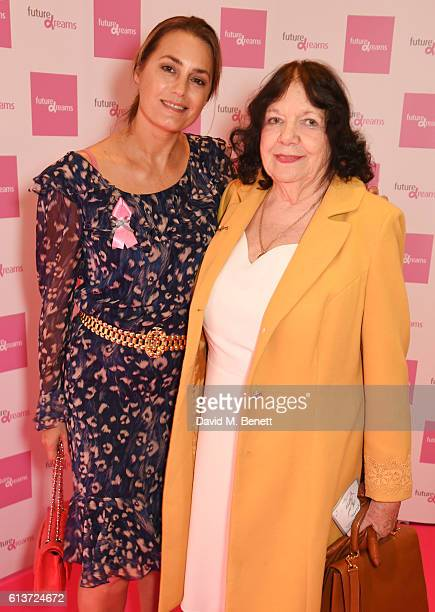 Yasmin Le Bon and motherinlaw AnnMarie Le Bon attend the Future Dreams 'United For Her' Ladies Lunch 2016 at The Savoy Hotel on October 10 2016 in...