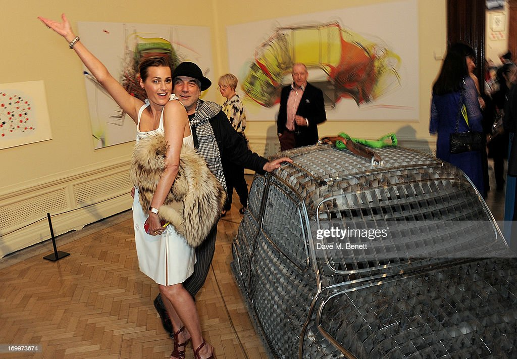 Yasmin Le Bon (L) and Ron Arad attend the preview party for The Royal Academy Of Arts Summer Exhibition 2013 at Royal Academy of Arts on June 5, 2013 in London, England.
