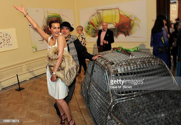 Yasmin Le Bon and Ron Arad attend the preview party for The Royal Academy Of Arts Summer Exhibition 2013 at Royal Academy of Arts on June 5 2013 in...