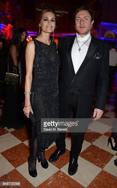 Yasmin Le Bon and Simon Le Bon attend a party to celebrate Nefer Suvio's birthday hosted by The Count and Countess Francesco Chiara Dona Dalle Rose...