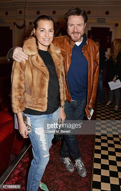 Yasmin Le Bon and Simon Le Bon attend a preview screening of Winter at The Electric Cinema on March 11 2014 in London England