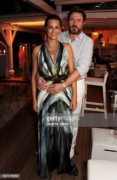 Yasmin Le Bon and Simon Le Bon attend a private dinner hosted by Kelly Hoppen to celebrate her design of the exclusive resort LUX Belle Mare on...